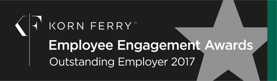 Korn Ferry TM Employee Engagement Awards Outstanding Employer 2017